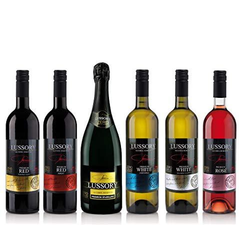 LOTE DE 6 BOTELLAS: LUSSORY BLANCO (0.0%). 100% airén que combina la dulzura y aroma del vino original. Elaborado y desalcoholizado cuidadosamente preservando sus características organolépticas y eliminando sólo el contenido alcohólico y calórico. La...