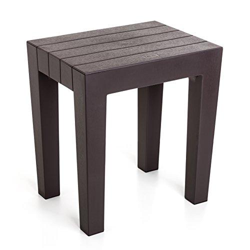 Tatay 4436500–sgabello modello teppichwahl di alta resistenza e sicurezza in colore marron, dimensioni 38x 29x 41cm