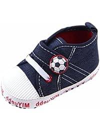 8b08a9ae9 Zapatos de bebe Suela blanda Fossen Patrón de fútbol Zapatos del  antideslizante para Recién ...