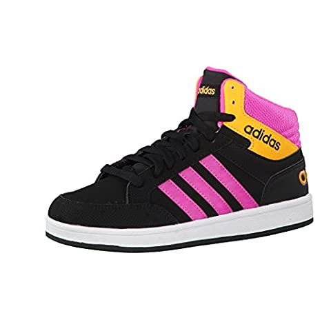 adidas NEO Kinder Sneaker HOOPS LIGHT MID K core black/shock pink s16/solar gold 28