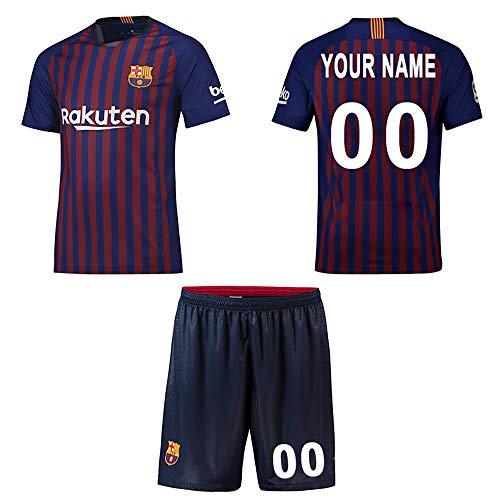 WFhome Personalisierte Barcelona Home Football Shirt Benutzerdefinierte Fußball Trikots mit Team Name Player Namen und Zahlen