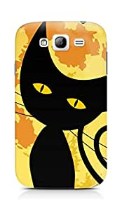Amez designer printed 3d premium high quality back case cover for Samsung Galaxy Grand Neo (Black Cat Halloween)