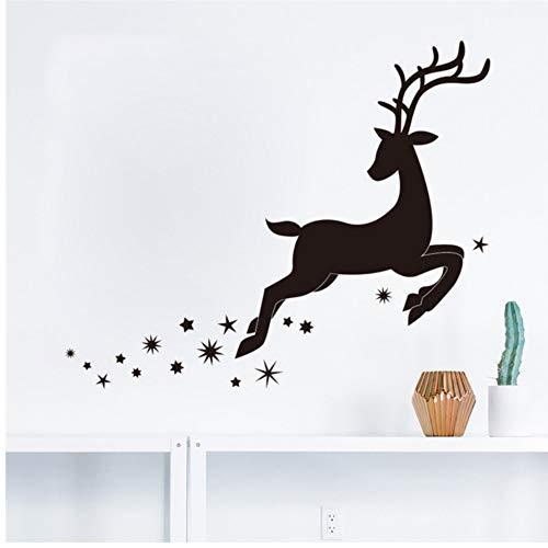 46 * 56 Cm Frohe Weihnachten Nette Kleine Hirsch Schneeflocke Decor Wandaufkleber Wohnkultur Shop Shop Chirstmas Party Fenster Aufkleber Dekoration ()