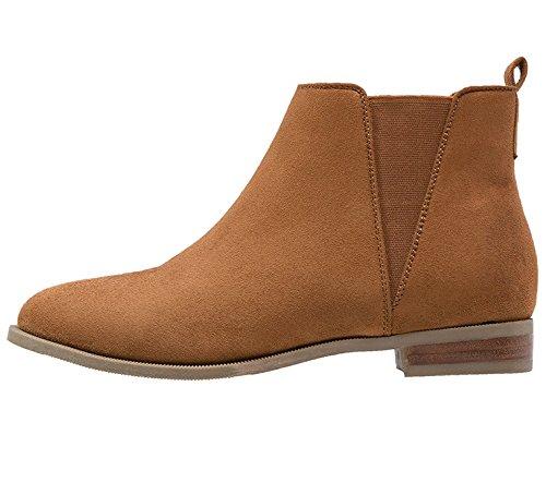 Anna-Field-Ankle-Boots-Stiefel-Damen-Braun-Gre-38