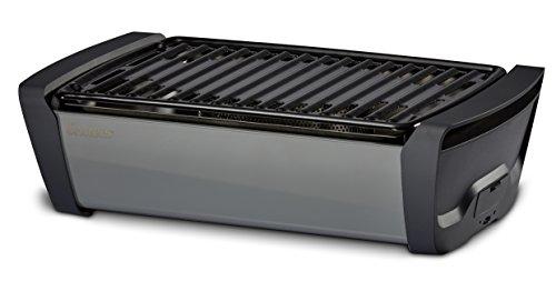 Enders AURORA rauchfreier Tischgrill, grey 1364 , mobiler Holzkohle-Grill, rauchfrei, für Balkon,...
