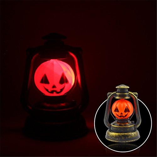 WELSUN 3W Orange Halloween Dekoration Kürbis Hand Lampe Laterne Licht mit Scary Ghosty Lachen enthält Keine Batterien (Scary Halloween Lachen)