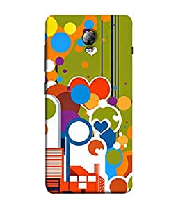 PrintVisa Designer Back Case Cover for Lenovo Vibe P1 :: Lenovo Vibe P1 Turbo :: Lenovo Vibe P1 Pro (Orange Blue Green hearts sky)