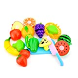 Nikgic 12pcs Corte Juguete Plástico Frutas y Verduras Pizza Juguetes...