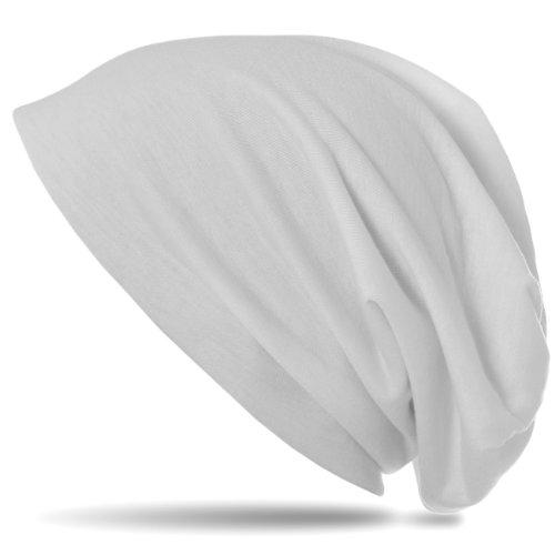 CASPAR MU068 Bonnet Slouch Beanie classique et léger Blanc