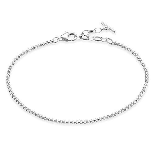 Thomas Sabo Damen-Armband Glam & Soul klassisch 925 Sterling Silber Länge von 16.5 bis 19 cm A1561-001-12-L19,5v