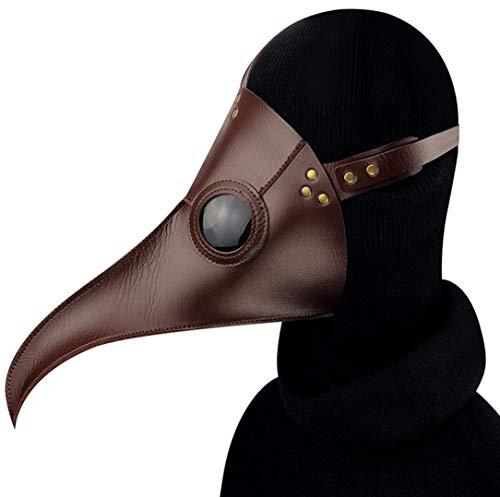 YZSL Pest doktor Maske braun Retro Lange vögel schnabel doktor Maske Kunstleder Cosplay Halloween Festival Party Prom Prop