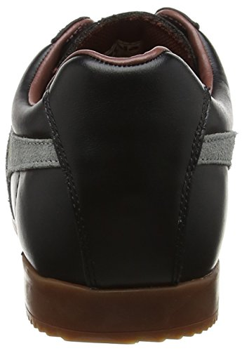 Gola Herren Harrier Leather Sneaker Schwarz (Black/grey/burgundy)