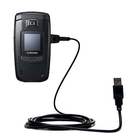Klassisches Direkt-USB-Kabel für Samsung SGH-E780 mit Power Hot-Sync und Ladekapazitäten Verwendet die TipExchange Technologie