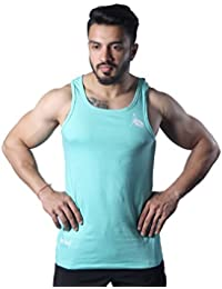 GreyWolf Electra Tank Mint Green Men's Vest For Sports / Gym (Muta_Mint Green_Vest12) (Medium)