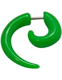 Espiral extensor falso para la oreja de UV acrílico verde con una dilatación ...
