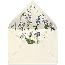 sobres forrados invitaciones de boda-VINTAGE/FLORES/MAPAS 22,5x16,5 cm (botánica_morado)