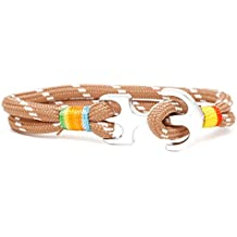 Ancla pulsera TH Anchor Nylon Paracord Beige – Blanco