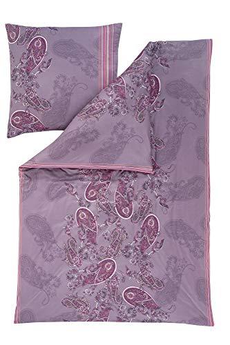Estella Mako Interlock Jersey Bettwäsche 2 teilig Bettbezug 135 x 200 cm Kopfkissenbezug 80 x 80 cm Raya 6519001-170 holunder