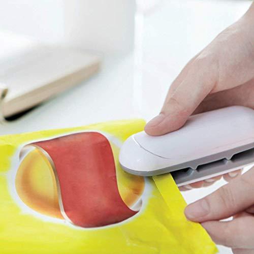 Schinely Mini Folienschweißgerät Vakuumiergerät Haushalt Hand Sealer Heißsiegelmaschine Einschweißgerät Plastiktüten Sealer Sealing Machine Beutelverschliesser