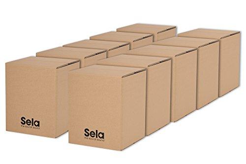 Sela SE 113 Carton Cajon Mini für Kinder und Anfänger Gruppen, Drum Box mit Snare Sound, Made in Germany, 10 Stück