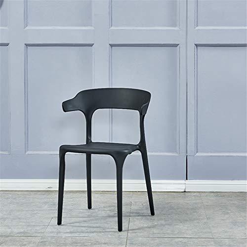 AILEYOU Horn Stuhl Esszimmer Küchenhocker Modern Freizeit Schreibtischstuhl Rückenlehne Tragbar Freizeit Wohnzimmer Schlafzimmer Draussen B -