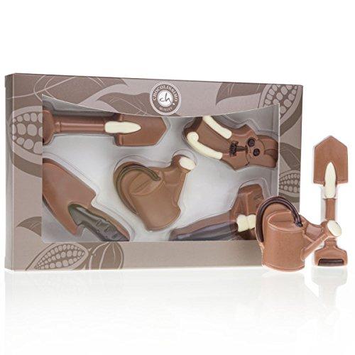 Gartenwerkzeuge aus Schokolade - 5-teiliges Geschenkset   lustige Geschenkidee   Geburtstagsgeschenk   Geschenk für Kinder   Erwachsene   Mann   Frau   aus Vollmilchschokolade   ohne Alkohol