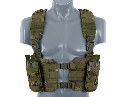 8fields Split Front Harness Chest Rig Lightweight Vest Light Kampfweste Airsoft Paitball, Multicamo Tropic