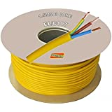 Arctic Cable 100 Meter Coil 1.5mm Artic Metre Yellow 110 V Volt 3 Core 16 Amp to 13 Amp M Extension Reel