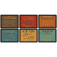 Portmeirion Home & Gifts Juego de 6 manteles Individuales rectangulares, Pack 1