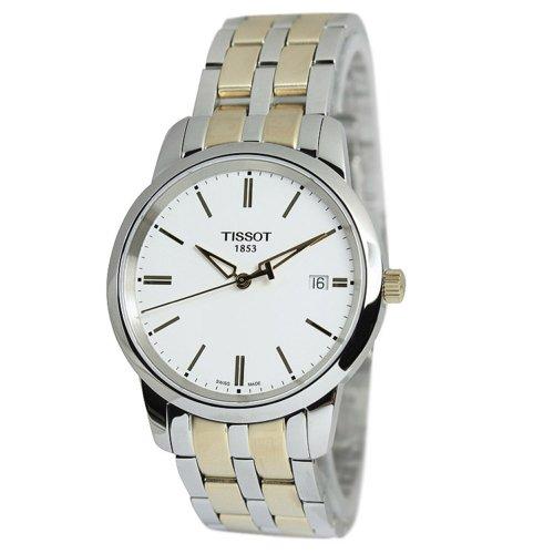 Tissot Herren-Armbanduhr 38MM Zwei Ton Schweizer Quarz Analog T0334102201101
