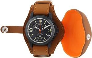 Victorinox Swiss Army Original Chronograph LE 241594 - Reloj cronógrafo de cuarzo para hombre, correa de cuero color marrón (cronómetro, agujas luminiscentes) de Victorinox Swiss Army