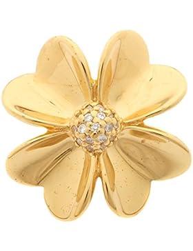 Charm Blume XL vergoldet