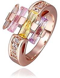 AMDXD Schmuck Rosegold Vergoldet Damen Ringe (Eheringe) Einzigartiges Design Gr.57 (18.1)