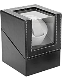 Semme Automatic Rotating Watch Display Box, Whisper-Quiet Electric Motor Single PU Watch Winder Holder, Classic Watch Winder Table Storage Case