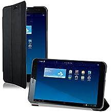 kwmobile Slim Smart Cover Funda Carcasas para Huawei MediaPad X1 7.0 en negro