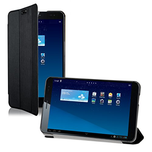 Preisvergleich Produktbild kwmobile Hülle für Huawei MediaPad X1 7.0 - Smart Cover Case Tablet Schutzhülle Kunstleder - Ultra Slim Tabletcase Schwarz