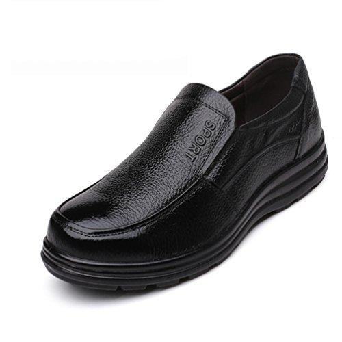 XIGUAFR Chaussure D'Affaire en Cuir Résistant à L'Usure Homme Papa Chaussure Cuisine à Semelle Souple