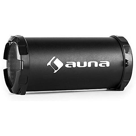 auna Dr. Beat 2.1 cassa acustica speaker portatile (dispositivo Bluetooth, batteria integrata, porta USB, slot SD, ingresso AUX, cinghia per trasporto) - nero