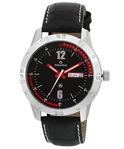 Maxima Analog Black Dial Men's Watch - 24123LMGI image
