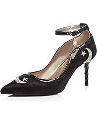 57e84d3b25fe3f Yiye Damen Elegant Pailletten Pumps Stiletto High Heels Mond Court Shoes  Abend - cs-demo1.com