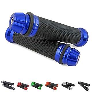 Universal Motorrad/Roller Lenkergriffe Griff Griffgummis 22/24-25mm (Dome) (Blau)