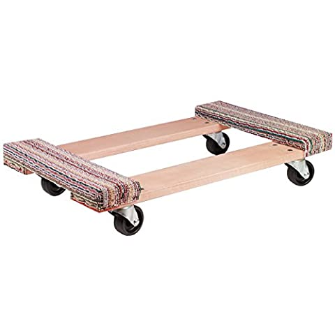 Akro-Mils RD3018CE4P Carpet End Industrial Grade Wood Dolly Polyolefin Caster, 30 x 18