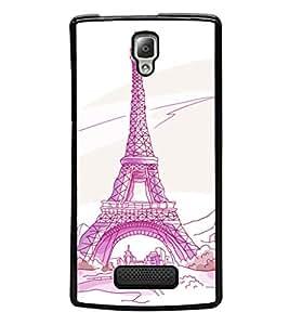 printtech Paris Tower Sketch Cartoon Back Case Cover for Lenovo A2010