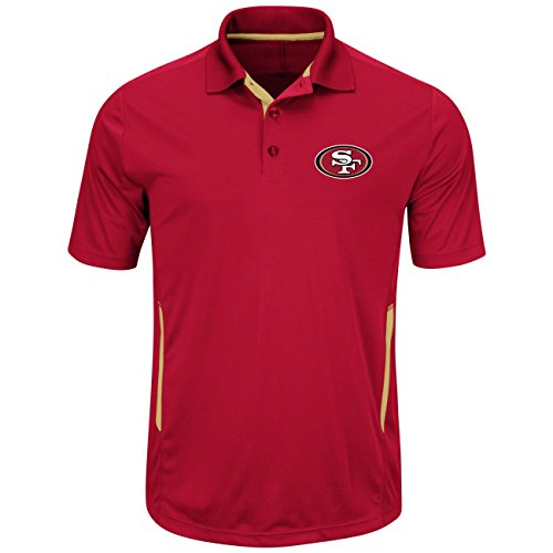 "San Francisco 49ers Majestic NFL ""Field Classic 2"" Men's Short Sleeve Polo Shirt"
