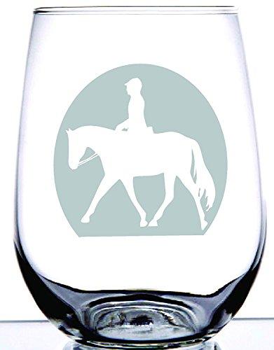 Englisch Rider Dressur Freude Pferd-480-ohne Stiel Wein Glas-Rodeo Collection-Einzigartiges Geschenk