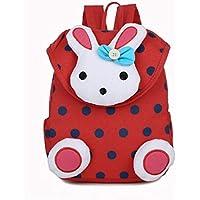 Liyao Unisex 1-6 años de Edad Kids School Bag Cute Cartoon 3D Rabbit Shape