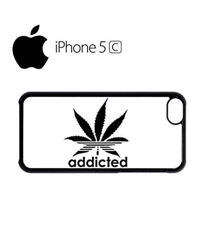 Addicted Cannabis Mobile Cell Phone Case Cover iPhone 5c Black Weiß