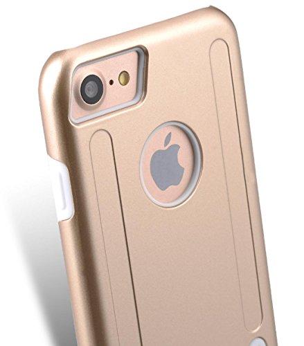 Apple Iphone 7 Melkco Elite-Serie Premium Leder-Snap zurück Tasche Tasche mit Premium-Leder Handgefertigte gute Schutz, Premium Feel-Tan Gold / Weiß