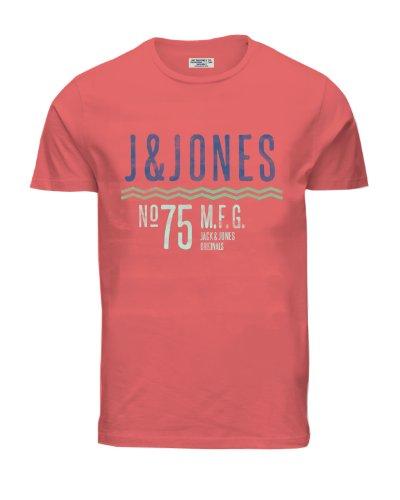 Jack & Jones Herren SUMMER TEE SS EXP 13 MAY ORG NEU Rot (Spiced Coral)