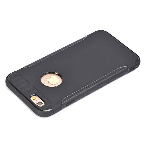 """Coque iPhone 6s, Coque iPhone 6, SsHhUu Ultra Slim Caoutchouc TPU Souple Anti-chocs Case Cover Housse de Protection Étui pour Apple iPhone 6 / 6s (4.7"""") Bleu Profond Noir"""